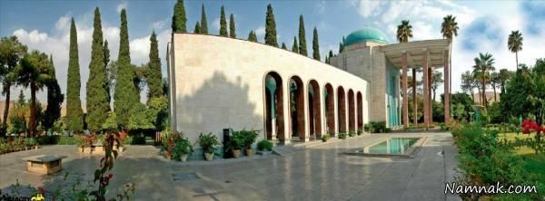 دیدنی های زیبا و چشم نواز آرامگاه سعدی در شیراز